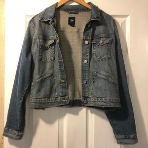 GAP cropped jean jacket